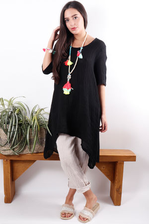 The Sahara Tunic Dress Black