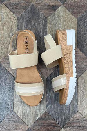 The Taylor Wedge Sandal Soft Tan