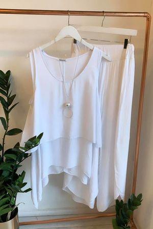 Santorini Split Pant White