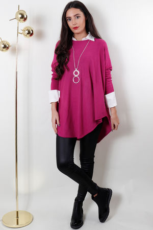 The Scoopy Knit Magenta