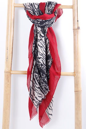 The Scribble Scarf Burgundy