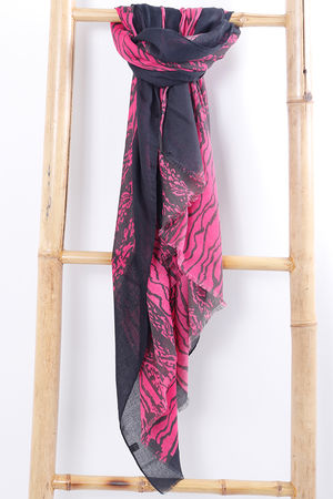 The Scribble Scarf Lipstick Pink