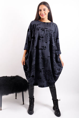 The Script Tunic Navy