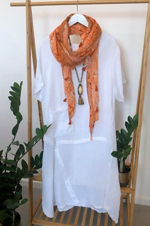 The Seams Perfect Dress White