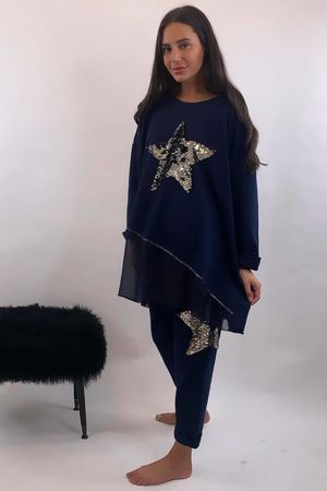 The Sequin Star Co-Ord Navy