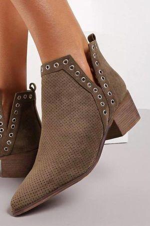 The Sienna Ankle Boot Khaki