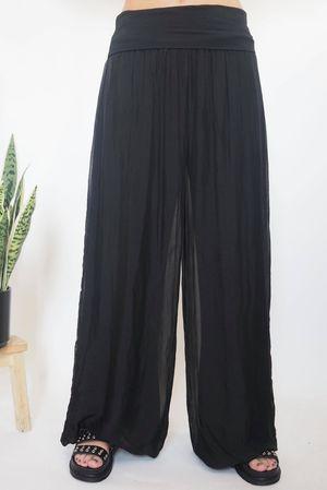 The Silk Road Pants Black