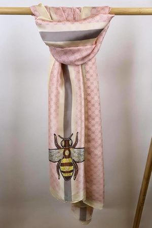 The Silky Bee Scarf Blush