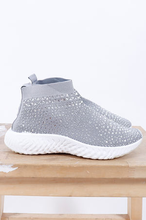 The Ski Bunny Sock Trainer Grey