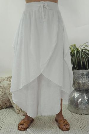 The Skirt Culottes White