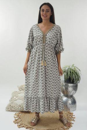 The Souk Print Maxi Dress Mocha