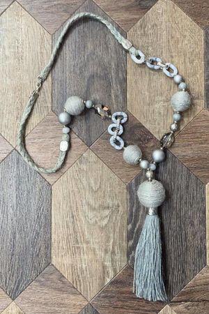 The Souk Tassel Necklace Greys
