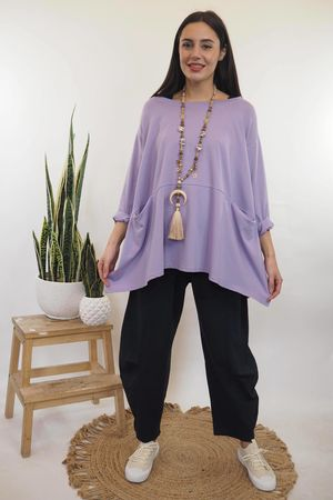 The Split Side Pocketed Peasant Lilac