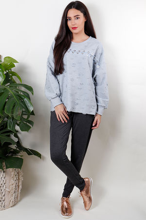The Staci Sweat Baby Blue