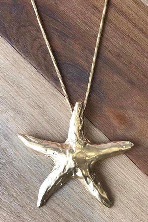 The Star & Coffee Necklace Matt Gold