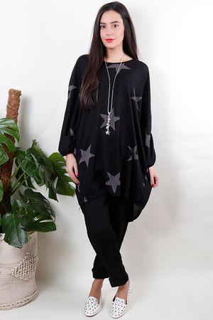 The Starry Mesh Black