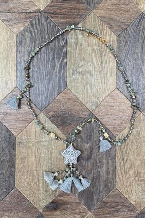 The Stella Necklace Grey