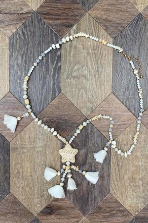 The Stella Necklace White