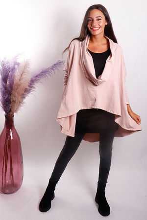The Super Cowl Top Layer Blush Pink