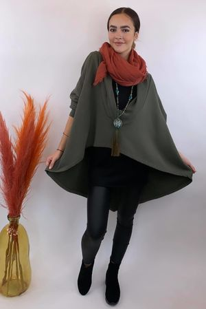 The Super Cowl Top Layer Light Dark Khaki