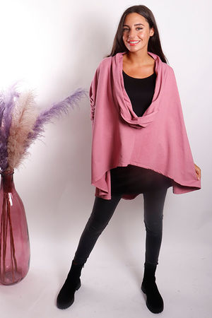 The Super Cowl Top Layer Indian Pink