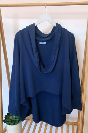 The Super Cowl Top Layer Navy