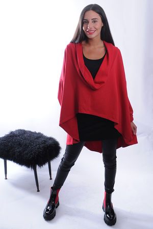 The Super Cowl Top Layer Red