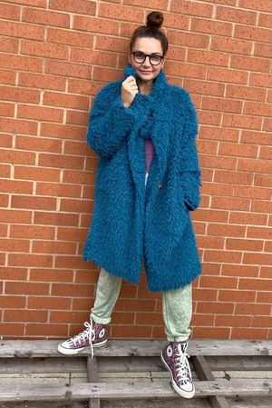 The Super Shag Coat Teal