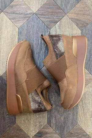 The Super Wedge Lux Trainer Soft Tan