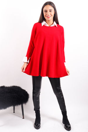 The Swing Knit Red