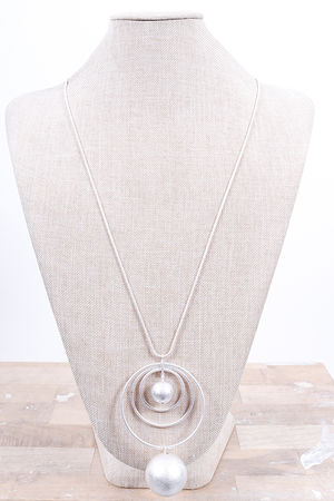 The Swirl & Ball Necklace Silver