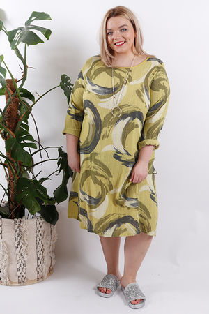 The Swirl Dress Lime