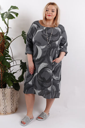The Swirl Dress Slate