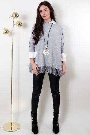 The Tassel Knit Grey