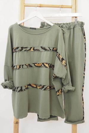 The Tiger Linear Co-Ord Khaki