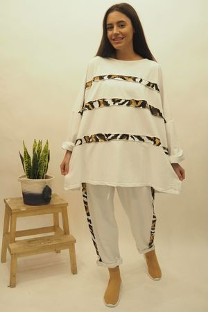 The Tiger Linear Co-Ord White