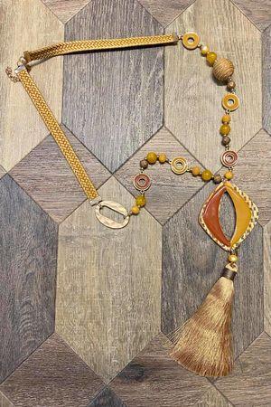 The Tokyo Tassel Necklace Ochre