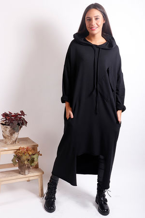 The Trench Hoody Black