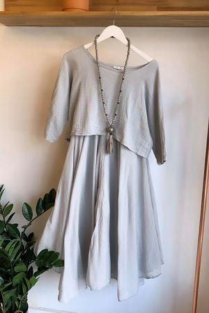 The Two Piece Dress Dove