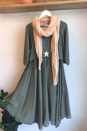 The Two Piece Dress Khaki