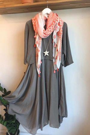 The Two Piece Dress Mocha