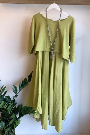 The Two Piece Dress Washed Lime