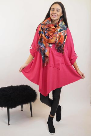 The Two Pocket Kite Top Hot Pink