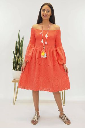 The Victoria Gyspy Dress Coral