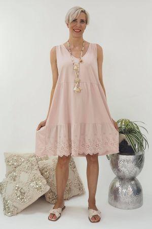 The Victoria Sleeveless Smock Dress Blush