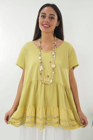 The Victoria V Neck Top Lime