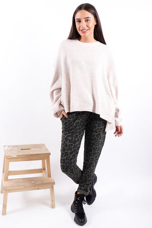 The Waffle Knit Nude