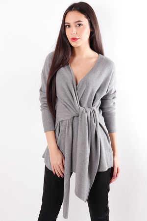 The Wrap Knit Grey