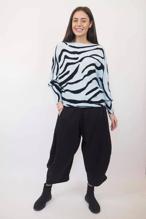 The Zebra 80s Batwing Knit Ice