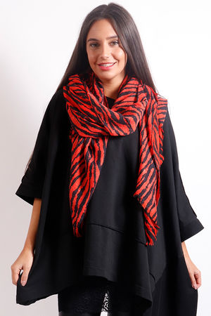 The Zerba Scarf Red & Black